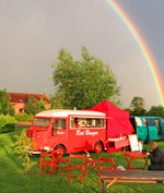 Rainbow over the Red Banger